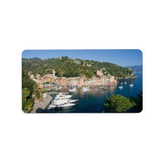 Portofino  panorama personalized address label