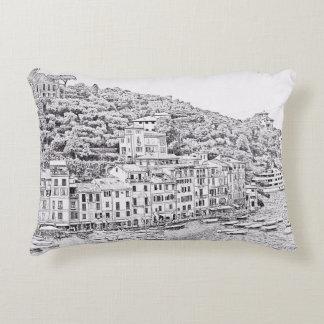 Portofino romántico soñador, almohada de Italia