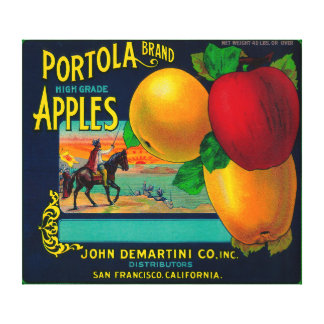 Portola Apple Crate Label Canvas Print