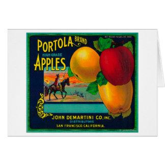 Portola Apple Crate Label Card