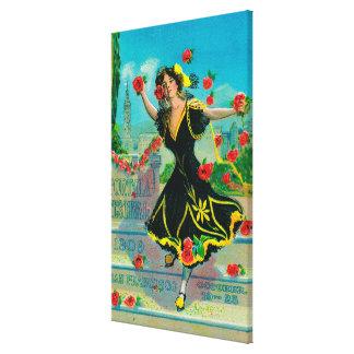 Portola Festival Advertisment (dancer) Canvas Print