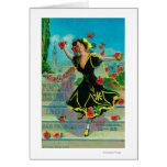 Portola Festival Advertisment (dancer) Greeting Card