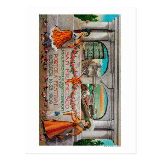 Portola Festival Advertisment (women) Postcard