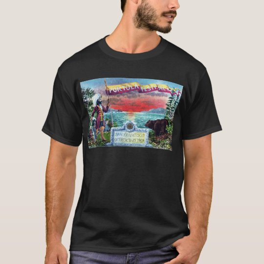 Portola Festival Explorers and Bear at SF Bay T-Shirt