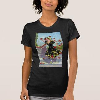 Portola Festival Lady with Roses 1909 T Shirts