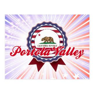 Portola Valley, CA Tarjeta Postal