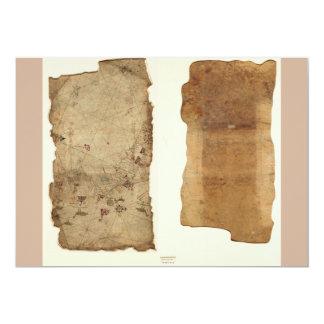 Portolan Chart of the Pacific Coast (1565) 5x7 Paper Invitation Card