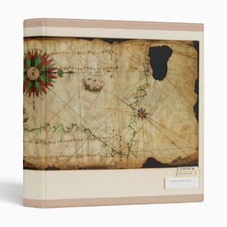 Portolan Chart Pacific Coast Map circa 1500 Binder