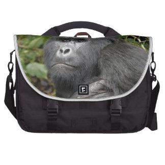 portraet de un gorila de montaña del silverback bolsa para ordenador
