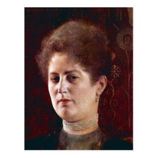 Portrai of a Woman by Gustav Klimt Postcard