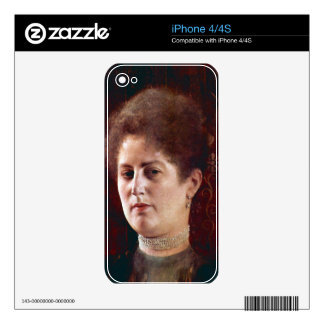 Portrai of a Woman by Gustav Klimt Skin For The iPhone 4