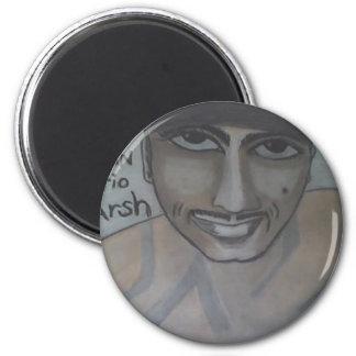 Portrait #2 of Evan in Chalk 2 Inch Round Magnet