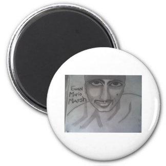 Portrait #2 of Evan 2 Inch Round Magnet
