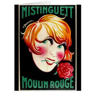 Portrait Actress Mistinguett 1926 Card