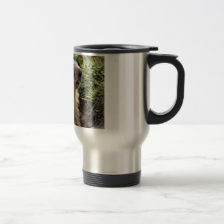 Portrait Alpine Marmot Travel Mug