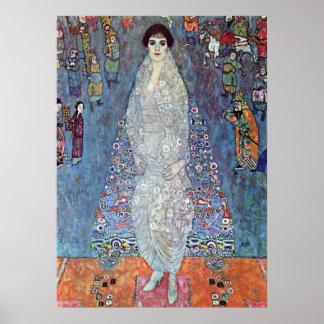 Portrait Baroness Elisabeth Bacchofen Echt, Klimt Print