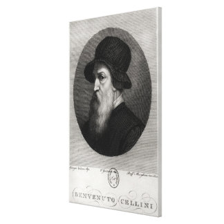 Portrait Benvenuto Cellini  engraved by Canvas Print