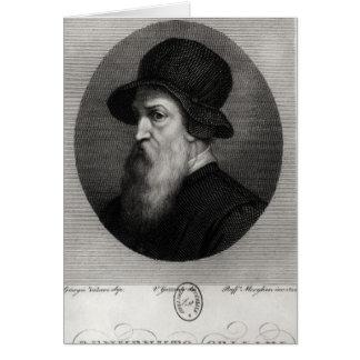 Portrait Benvenuto Cellini  engraved by Card