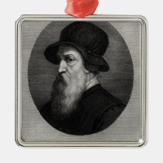 Portrait Benvenuto Cellini  engraved by Metal Ornament