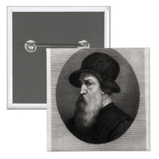 Portrait Benvenuto Cellini  engraved by Pinback Button