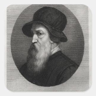 Portrait Benvenuto Cellini  engraved by Square Sticker