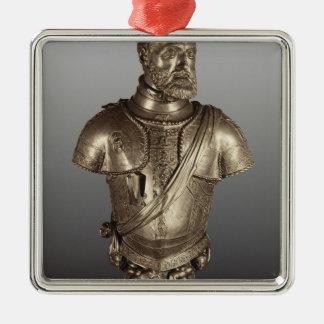 Portrait bust metal ornament