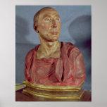 Portrait bust Niccolo da Uzzano Poster