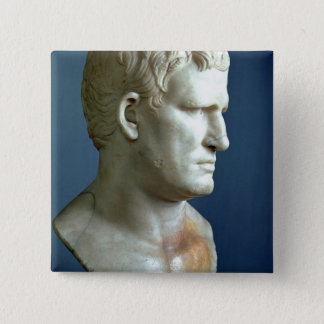 Portrait bust of Agrippa (63-12 BC) Roman (marble) Pinback Button