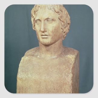 Portrait bust of Alexander the Great Square Sticker