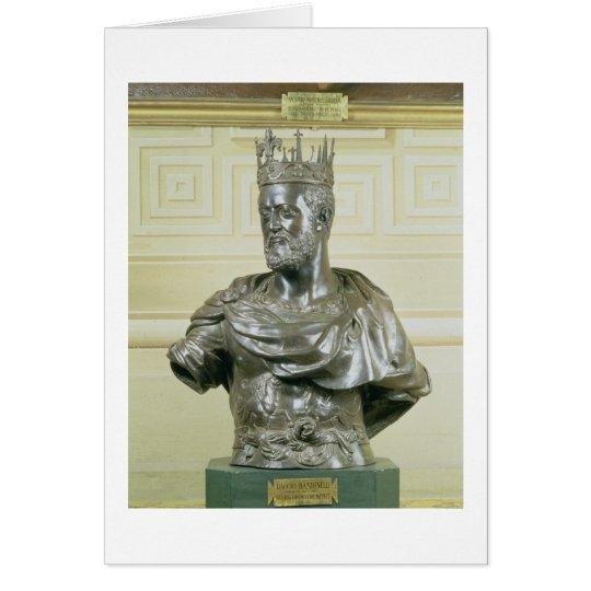 Portrait Bust of Cosimo I de Medici (1519-74) c.15 Card