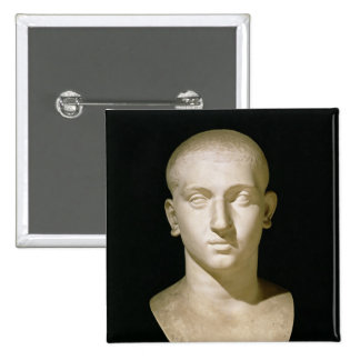 Portrait bust of Emperor Severus Alexander 2 Inch Square Button
