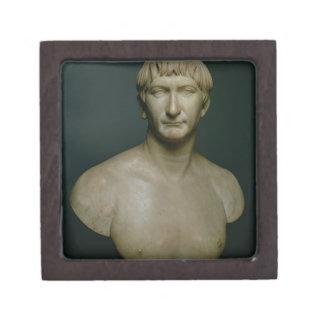 Portrait bust of emperor Trajan 53-117 AD 1st-2n Premium Gift Box