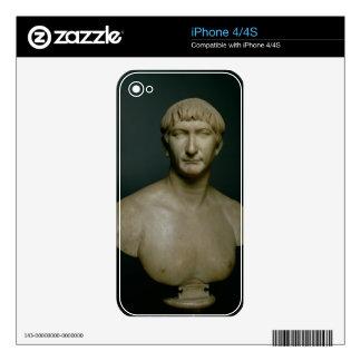 Portrait bust of emperor Trajan (53-117 AD) 1st-2n Skin For iPhone 4