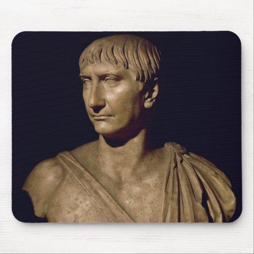 Portrait bust of Emperor Trajan Mouse Pad