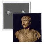 Portrait bust of Emperor Trajan Pinback Button