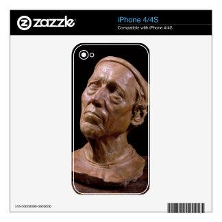 Portrait Bust of Girolamo Benivieni (wax) Decals For iPhone 4S