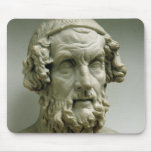 Portrait bust of Homer Mouse Pad
