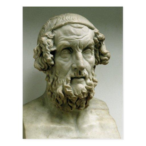 Portrait bust of Homer Postcard