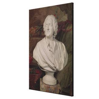 Portrait bust of Jacques-Ange Gabriel Canvas Print