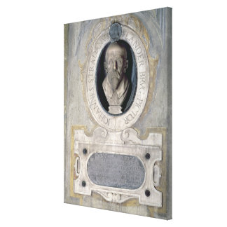 Portrait bust of Joannes Stradanus, Flemish-born p Canvas Print