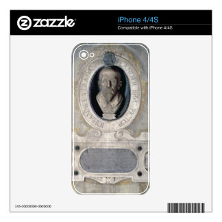 Portrait bust of Joannes Stradanus, Flemish-born p iPhone 4 Skin