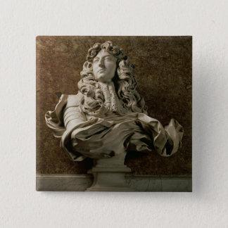 Portrait bust of Louis XIV (1638-1715), 1665, (mar Pinback Button