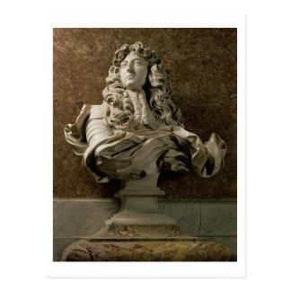 Portrait bust of Louis XIV (1638-1715), 1665, (mar Postcard