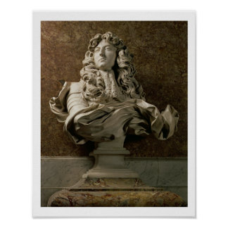 Portrait bust of Louis XIV (1638-1715), 1665, (mar Poster