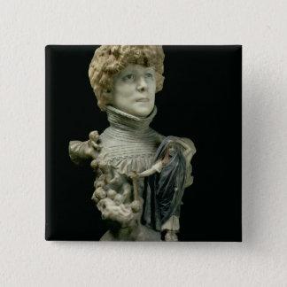 Portrait Bust of Sarah Bernhardt (1844-1923) Frenc Button