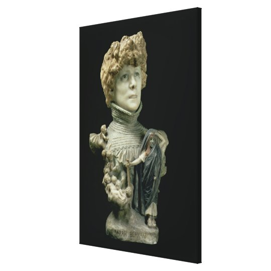 Portrait Bust of Sarah Bernhardt (1844-1923) Frenc Canvas Print
