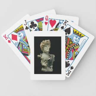 Portrait Bust of Sarah Bernhardt (1844-1923) Frenc Bicycle Playing Cards