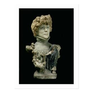 Portrait Bust of Sarah Bernhardt (1844-1923) Frenc Postcard
