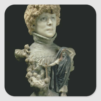 Portrait Bust of Sarah Bernhardt (1844-1923) Frenc Square Sticker