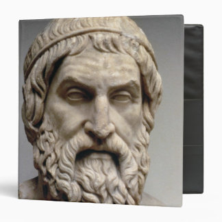 Portrait bust of Sophocles 3 Ring Binder